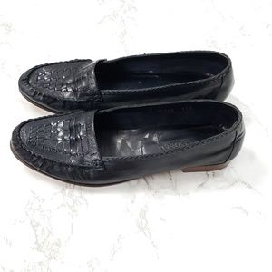 Cole Haan Vintage Leather Weave Loafers Flats